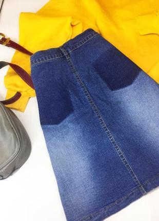 Комбинированная джинсовая юбка