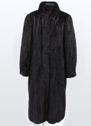 Норковая шуба черная классика натуральная норка с германии