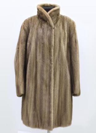 Норковая шуба saga mink натуральная норка с германии
