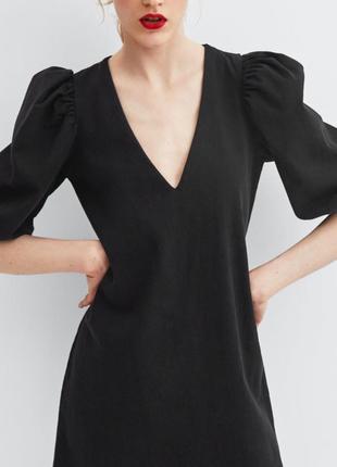 Платье xs s m l zara рукава воланы прямое оригинал