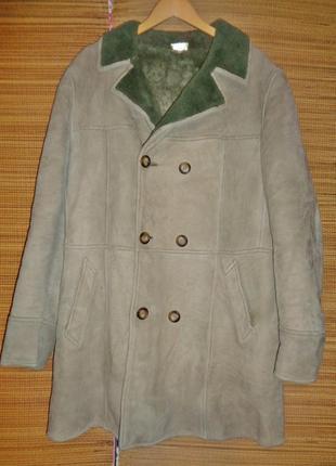 Дубленка италия пальто меховое кожаное овчина куртка