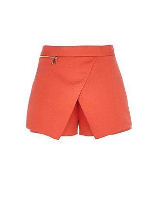 Оранжевые юбка шорты