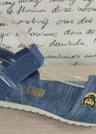 Джинсовые босоножки с резинкой на ножке р.35, 36, 37