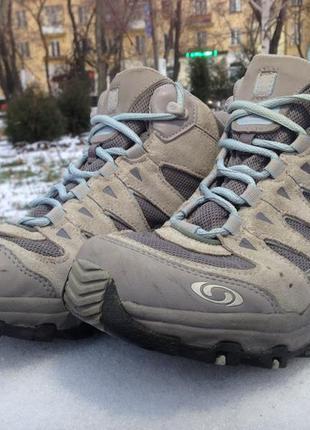 Зимние треккинговые ботинки,кроссовки salomon gore-tex р.38 lowa, orig