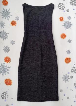Женственное шерстяное платье с красивым вырезом спинки от calvin klein размер l