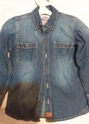 Джинсовая рубашка1 фото