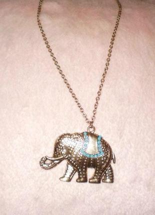 Цепочка з слоником /кольє/колье/ цепочка с подвеской слон