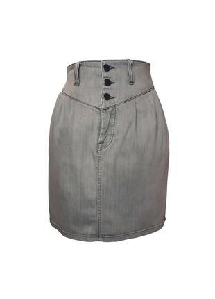 Джинсовая юбка с высокой талией vero moda