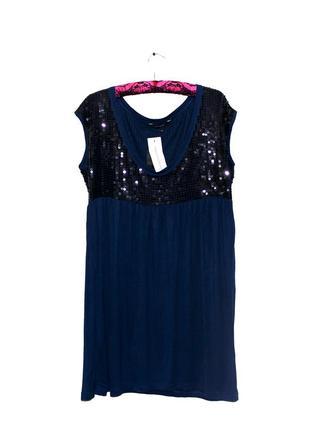 French connection. платье с декорацией пайеток. наш размер 48.