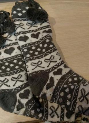 Длинные мягкие теплые носочки