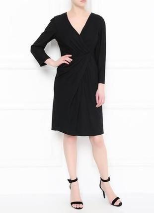 """Теплое машинной вязки платье на запах от известного бренда """"zara"""" размер 12-14(44-46)"""