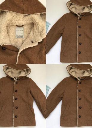 Модное пальто zara 5-6 лет