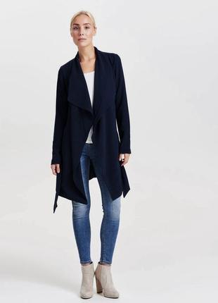 Классное ассиметричное легкое пальто кардиган удлиненный пиджак