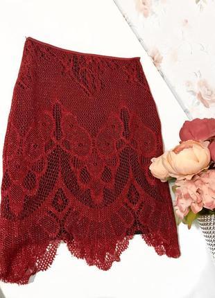 Супер цена!!!кружевная юбка, юбка сетка от miss selfridge