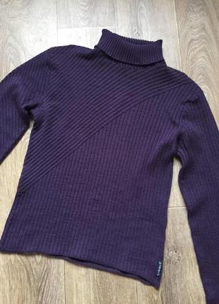 Свитер гольф водолазка фиолетовая баклажан armani винтаж