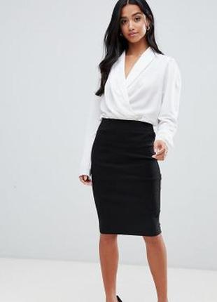 Классическая зауженная юбка карандаш размер 10-12 (42-44)