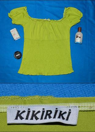 Футболка-топ, со спущенными плечами kikiriki