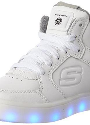 Кожаные кроссовки skechers energy lights с led -  размер 33 - стелька 21 см3