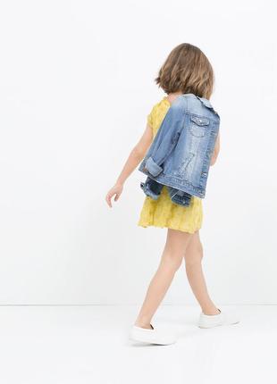 Джинсовая куртка пиджак от zara girls