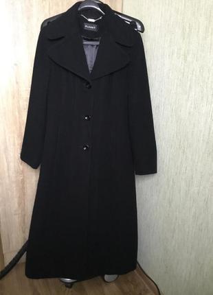 Классическое чёрное двубортное пальто , кашемир шерсть