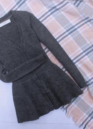 Шикарный кардиган кофта с баской zara