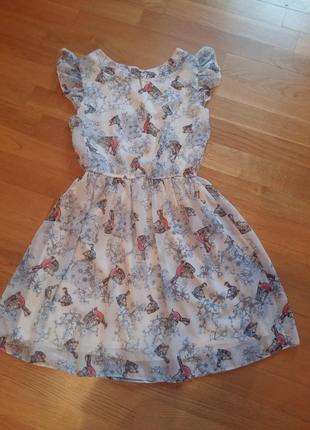 Шифоновое нежное платье kylie m&co  на 11-12 лет