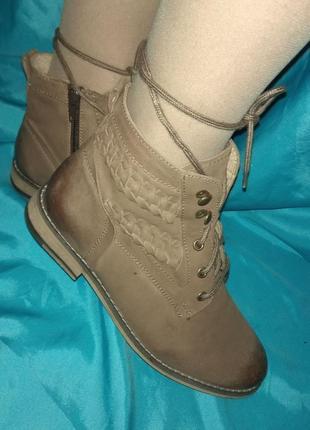 Кожаные деми ботинки sole diva р 36,5-37 германия отлич сост