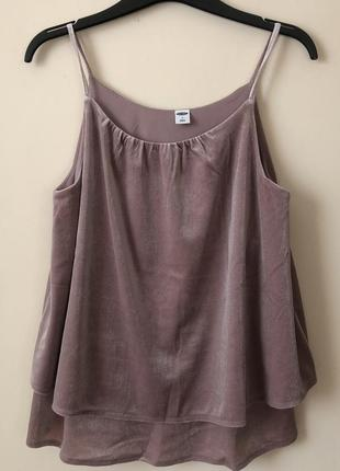 Бархатная маечка layered velvet cami by old navy { размеры s, m}