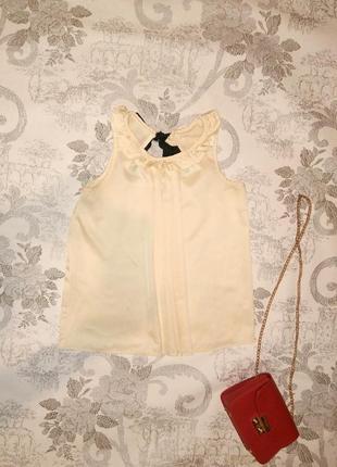Базовая свободная блуза с контрастным бантом женственный нарядный топ для беременных