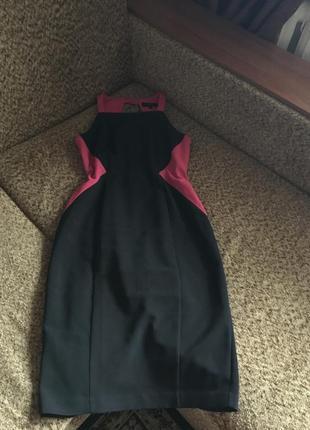 Комбинированое платье футляр миди