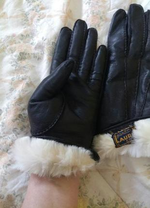 Перчатки кожаные, перчатки на меху