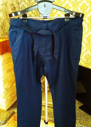 Esmara новые комфортные темно-синие льняные женские штаны германия  eur44