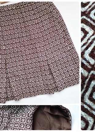Шерстяная классическая юбка зима