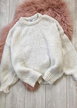 Идеальный объёмный свитер от zara пышные рукава оверсайз