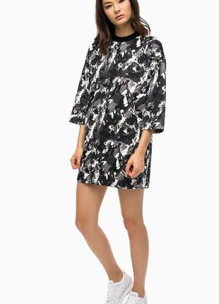 Платье-туника с карманами puma aop archive logo dress оригинал