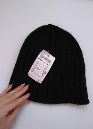 Brandy melville шапка черная новая с ценником italy шерстяная