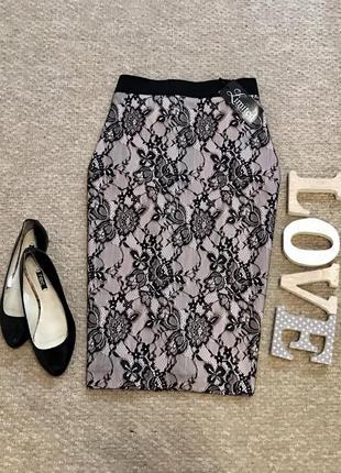 Новая!!!актуальная ажурная юбка limited collection