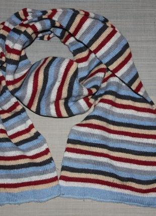 Полосатенький очаровательный шарф для мальчика в отличном состоянии