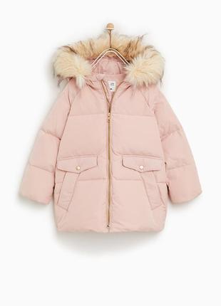 Новий пуховик, пухова куртка zara зима маломірить