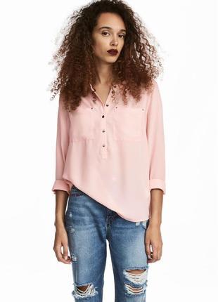 Креповая блуза h&m
