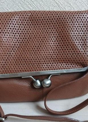 Шикарная кожаная сумка betty jackson
