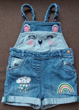 George джинсовый комбинезон шорты для девочки