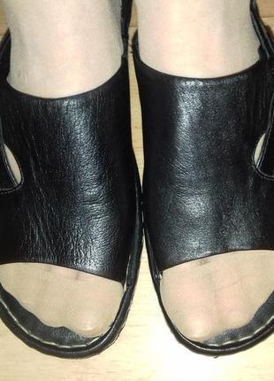 Шлепанцы кожаные clarks 26.5 см