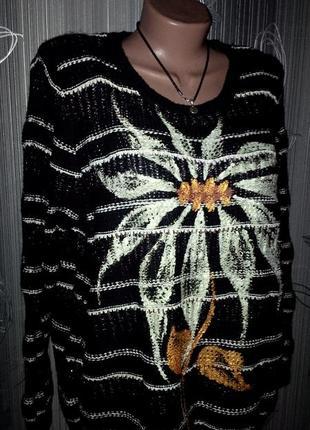 Авторская роспись!свитер lindex