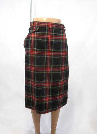 Трендовая теплая юбка 100% шерсть