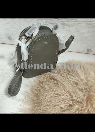 Стильный клатч-рюкзак david jones 5806-2 d. grey (т. серый)