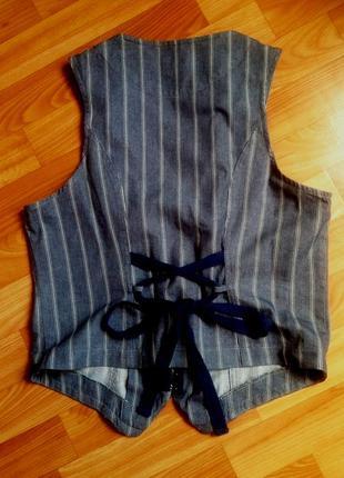 Жилетка хлопковая модная под  джинс  14 размера фирмы george