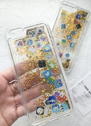 Очень качественный силиконовый чехол с водичкой iphone 6 6s