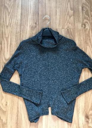 Красивый меланжевый свитер zebra