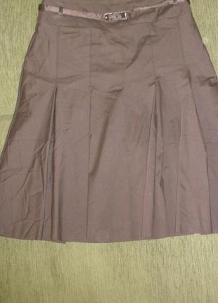 Брендовая юбка трапеция karen millen /англ 10 хлопок